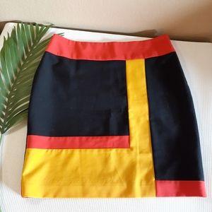 💼🆕️ colorblock SUMMER career skirt w/side zipper